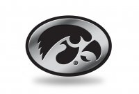 Iowa Hawkeyes Chrome Auto Emblem