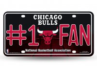 Chicago Bulls #1 Fan Glitter License Plate