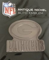 Green Bay Packers Antique Nickel Auto Emblem