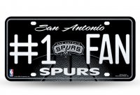 San Antonio Spurs #1 Fan Glitter License Plate