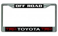 Toyota TRD Off Road Chrome License Plate Frame