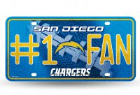 San Diego Chargers #1 Fan Glitter License Plate