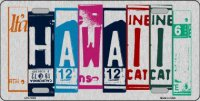 Hawaii Cut Style Metal License Plate