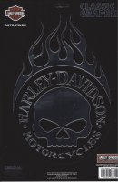 Harley-Davidson Flaming Skull Logo large Decal