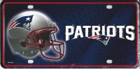 New England Patriots Metal License Plate