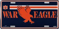 Auburn Tigers War Eagle Metal License Plate