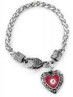 Alabama Crimson Tide Heart Bracelet