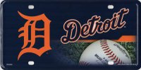 Detroit Tigers Metal License Plate