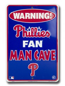 Philadelphia Phillies Man Cave Parking Sign