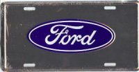 Ford Anodized License Plate