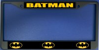 Batman Logo Photo License Plate Frame