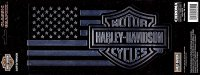 Harley-Davidson Logo American Flag Large Decal