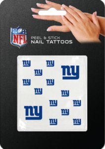 New York Giants Peel And Stick Nail Tattoos