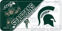Michigan State Spartans Metal License Plate
