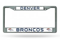 Denver Broncos Chrome License Plate Frame