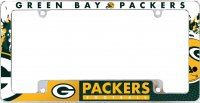 Green Bay Packers All Over Chrome License Plate Frame