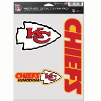 Kansas City Chiefs 3 Fan Pack Decals