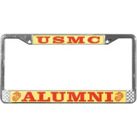 U.S. Marines Alumni Chrome License Plate Frame