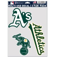Oakland Athletics 3 Fan Pack Decals