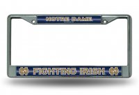 Notre Dame Glitter Chrome License Plate Frame