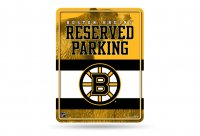 Boston Bruins Metal Reserved Parking Sign