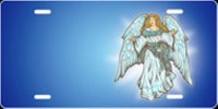 Angel (Blue) License Plate