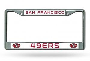 San Francisco 49 39 Ers Chrome License Plate Frame Fc1905