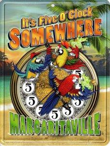 It's Five O'CLOCK Margaritaville Sunset Parking Sign