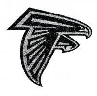 Atlanta Falcons Diamond Bling Auto Emblem