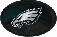 Philadelphia Eagles Chrome Die Cut Oval Decal