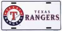 Texas Rangers License Plate