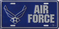 Air Force Metal License Plate