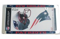 New England Patriots Thin Rim Value Chrome Frame w/Bonus Decals