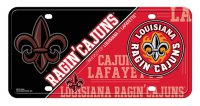 Louisiana Lafayette Ragin Cajuns Metal License Plate