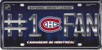 Montreal Canadiens #1 Fan License Plate