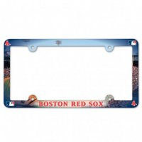 Boston Red Sox Full Color Plastic License Plate Frame