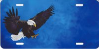 Eagle on Blue Offset Airbrush License Plate