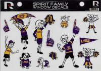 LSU Tigers Family Spirit Decal Set