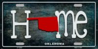 Oklahoma Home State Outline Metal License Plate