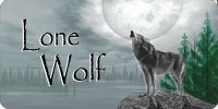 Lone Wolf Howling Photo License Plate
