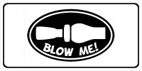 Blow Me Duck Call Photo License Plate