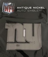 New York Giants Antique Nickel Auto Emblem