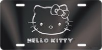 Hello Kitty Black Laser License Plate