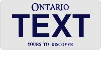 Design it Yourself Ontario Bicycle Plate