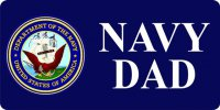Navy Dad With Logo License Plate