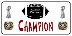 Fantasy FOOTBALL Champion Photo License Plate