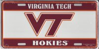 Virginia Tech Hokies Embossed License Plate