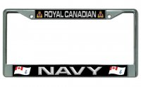 Royal Canadian Navy Chrome License Plate Frame