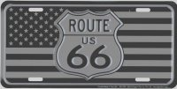 Route 66 Tactical U.S. Flag Metal License Plate
