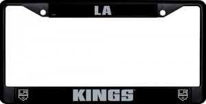 Los Angeles Kings Black License Plate Frame